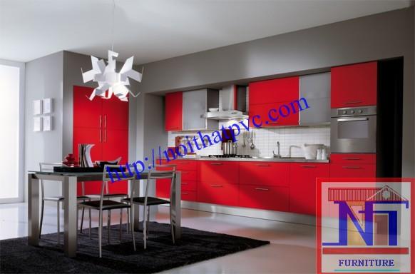Tủ bếp thiết kế chữ L - Kiểu 2