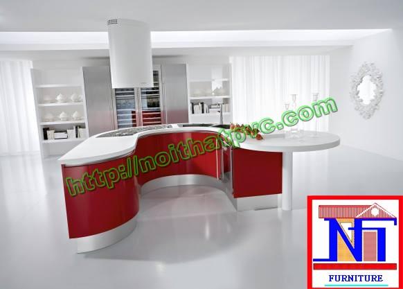 Tủ bếp PVC phủ Acrylic - tủ bếp đảo