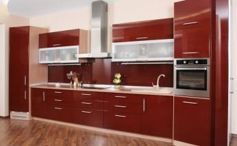 Tủ bếp thiết kế chữ I - Kiểu 2
