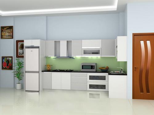 Tủ bếp thiết kế chữ L - Kiểu 3