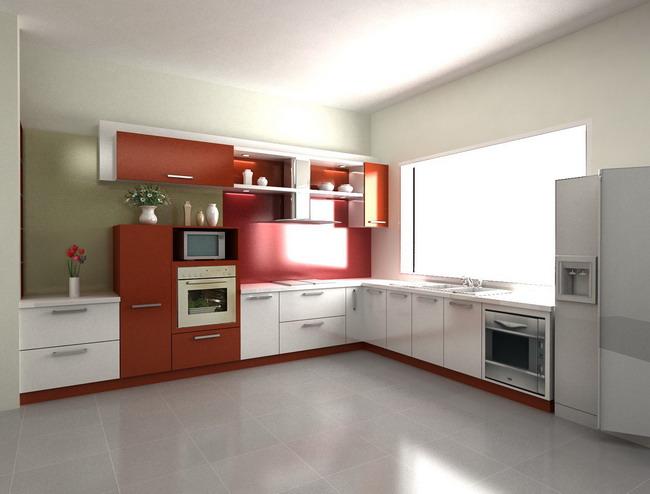 Tủ bếp thiết kế chữ L - Kiểu 5